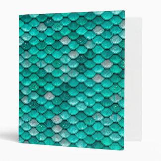 Sparkle Glitter Green Aqua Mermaid Scales Binders