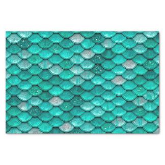 Sparkle Glitter Green Aqua Mermaid Scales Tissue Paper