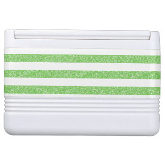 Sparkle Glitter Look Stripes Can Cooler