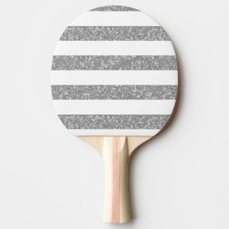 Sparkle Glitter Look Stripes Ping Pong Paddle