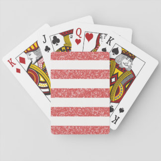 Sparkle Glitter Look Stripes Playing Cards