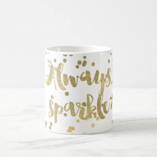 Sparkle Gold Confetti Coffee Mug