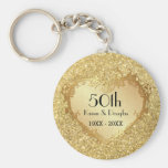 Sparkle Gold Heart 50th Wedding Anniversary