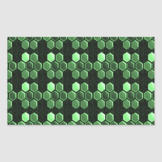Sparkle Hexagon Emerald Green Pattern NVN289 gifts Stickers