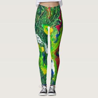 Sparkle in green leggings