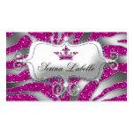 Sparkle Jewellery Business Card Zebra Crown Hot Pi