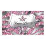 Sparkle Jewellery Business Card Zebra Crown Pink 2