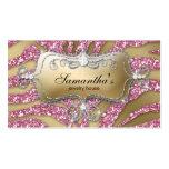 Sparkle Jewellery Business Card Zebra Gold Pink Si