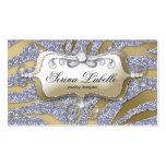 Sparkle Jewellery Business Card Zebra Gold Silver