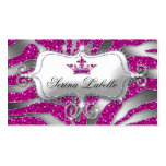 Sparkle Jewellery Zebra Crown Hot Pink 232 Business Card