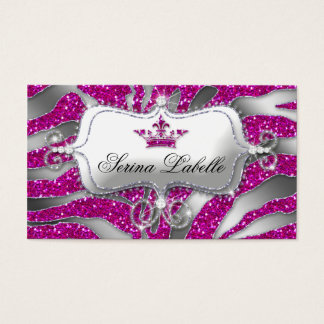 Sparkle Jewelry Zebra Crown Hot Pink 232 Business Card