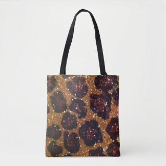 Sparkle Leopard Print Canvas Tote