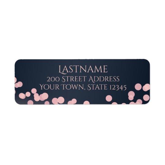 Sparkle Lights Pink and Navy Blue Address