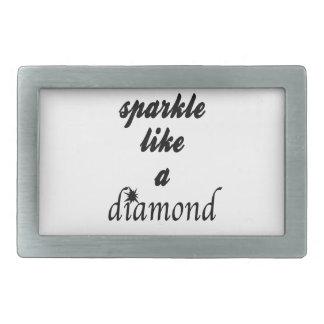 Sparkle Like A Diamond Rectangular Belt Buckles
