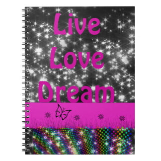 Sparkle live&dream  notebook