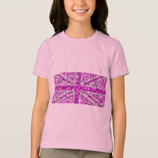 Sparkle Look UK Pink girl's ringer T-shirts