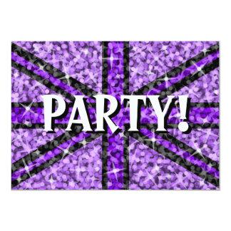 Sparkle Look UK Purple Black 'Party!' invitation