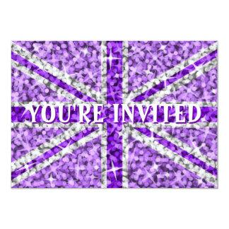 Sparkle Look UK Purple You're Invited' invitation