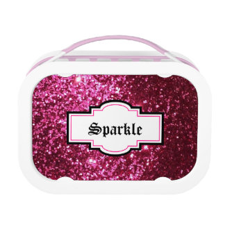 Sparkle N Shine Pink Glitter Lunchbox