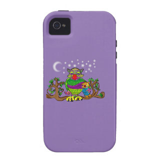 Sparkle Owl with Sparkle Baby Vibe iPhone 4 Covers