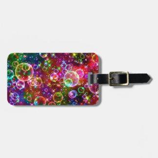 Sparkle Rainbow bubbles Luggage Tag