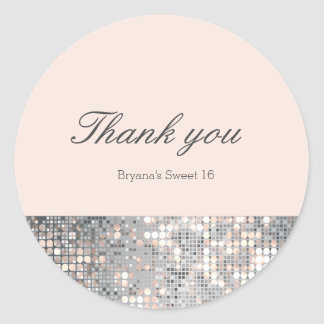 Sparkle Sequins Glamour Wedding Favor Stickers