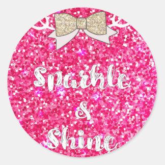 Sparkle & Shine Classic Round Sticker