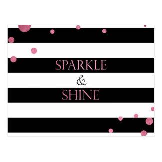 Sparkle & Shine Pink Postcard