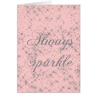 Sparkle Silver Glitter Card