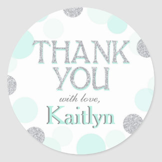 Sparkle Sprinkle Dots Thank You Label