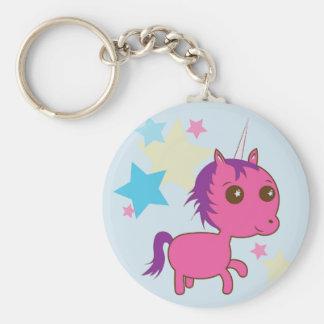 Sparkle Star Pink Unicorn Keychain