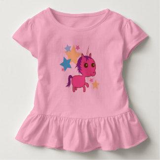 Sparkle Star Pink Unicorn Toddler Tee
