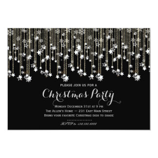 Sparkle Stars Chrismas Invitation