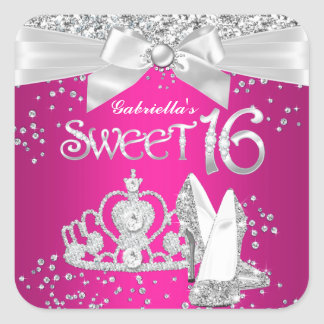 Sparkle Tiara Heels Sweet 16 Sticker