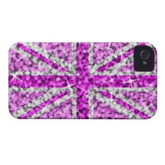 'Sparkle' UK Pink BlackBerry Bold barely there iPhone 4 Cases