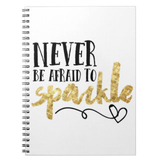 """Sparkle"" White Notebook/Journal Notebooks"