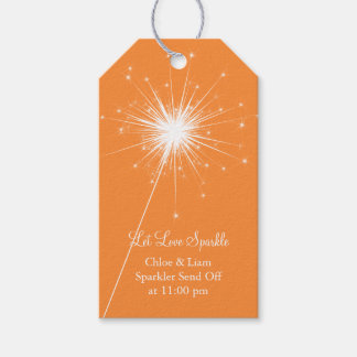 Sparkler Gift Tag - orange Pack Of Gift Tags