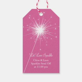 Sparkler Gift Tag - pink