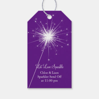 Sparkler Gift Tag - purple Pack Of Gift Tags