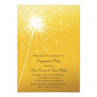 Sparkler Gold Engagement Invitation