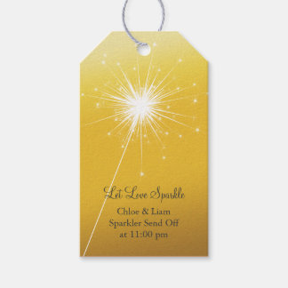 Sparkler Gold Gift Tag Pack Of Gift Tags