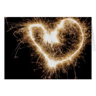 Sparkler heart card