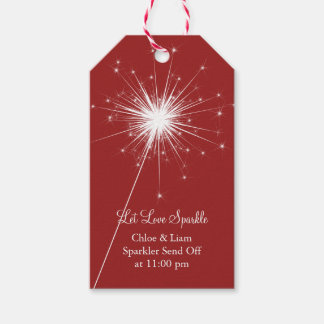Sparkler in Red Gift Tag Pack Of Gift Tags
