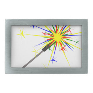Sparkler Rectangular Belt Buckle