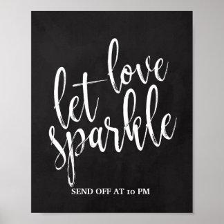 Sparkler Send Off Chalkboard 8x10 Sign
