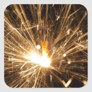 Sparkler Square Sticker