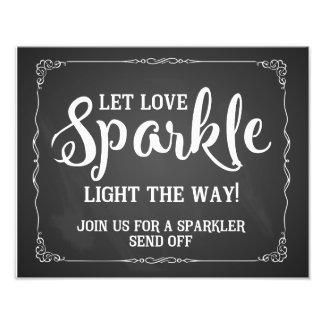 sparkler wedding sign chalkboard photographic print