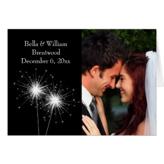 Sparkler Wedding Thank You Card