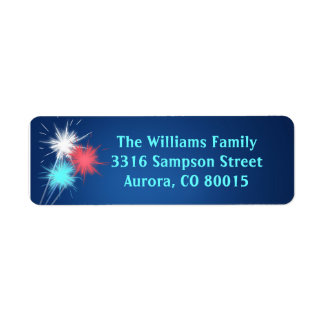 Sparklers 4th of July BBQ Party Address Labels