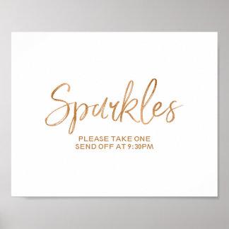 Sparkles 8x10 Stylish Rose Gold Wedding Sign